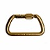 Large D Shaped Steel Screw Locking Carabiner
