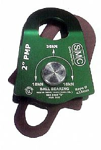 "SMC 2"" PMP Pulley, Double, Green, NFPA"